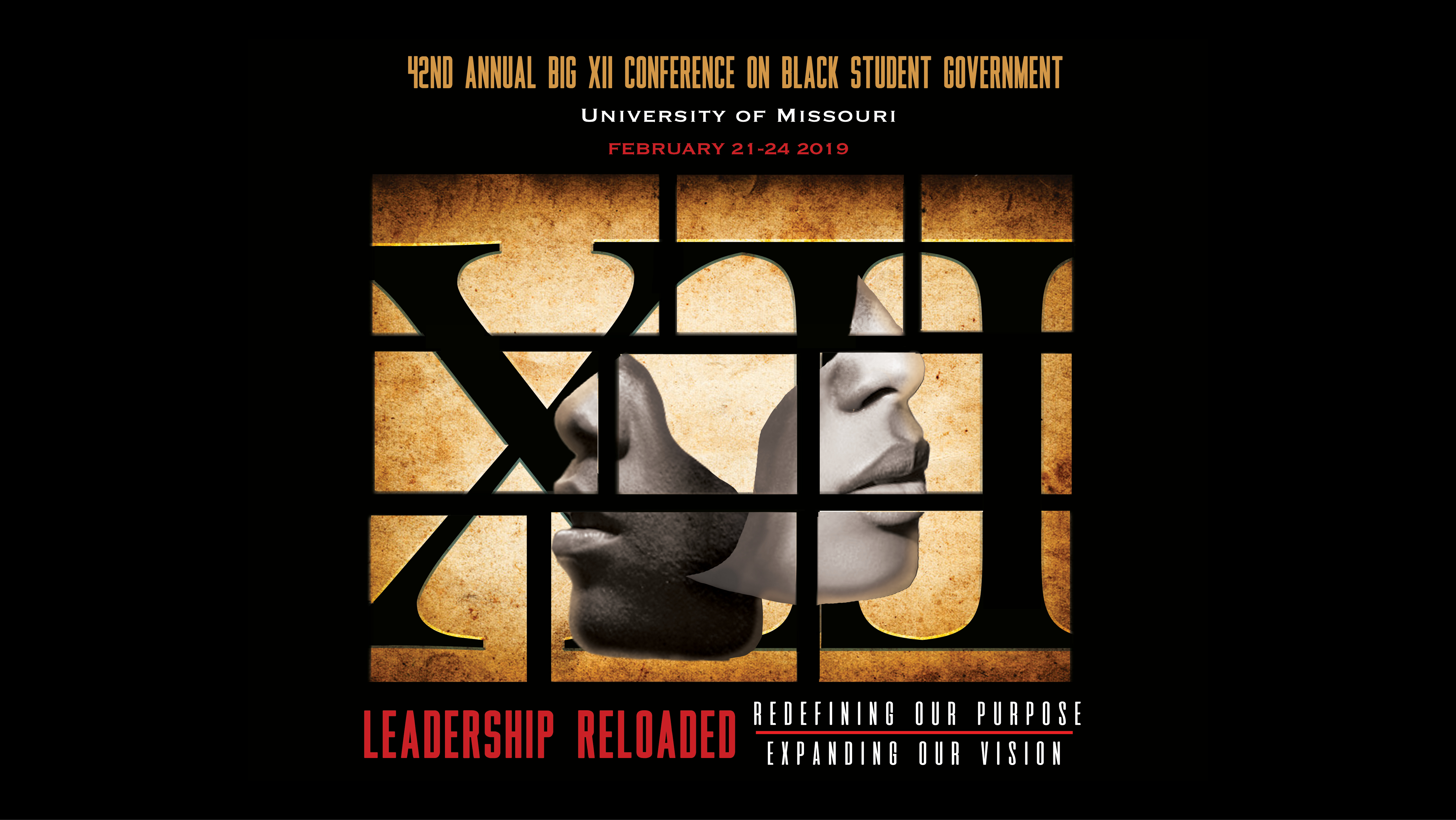"Big XII Conference graphic featuring the theme of ""Leadership Reloaded"""