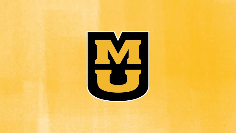 MU Logo on a gold textured background