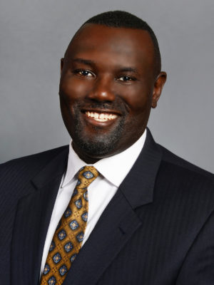 Donell Young wearing suit portrait