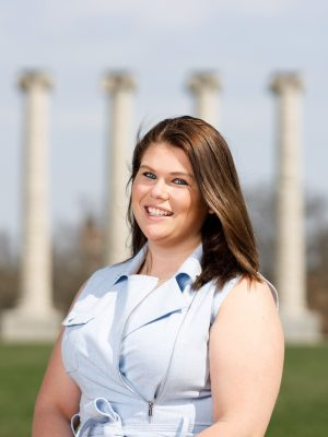 This is a photo of Katryna Sardis, the coordinator at the RSVP Center at Mizzou.