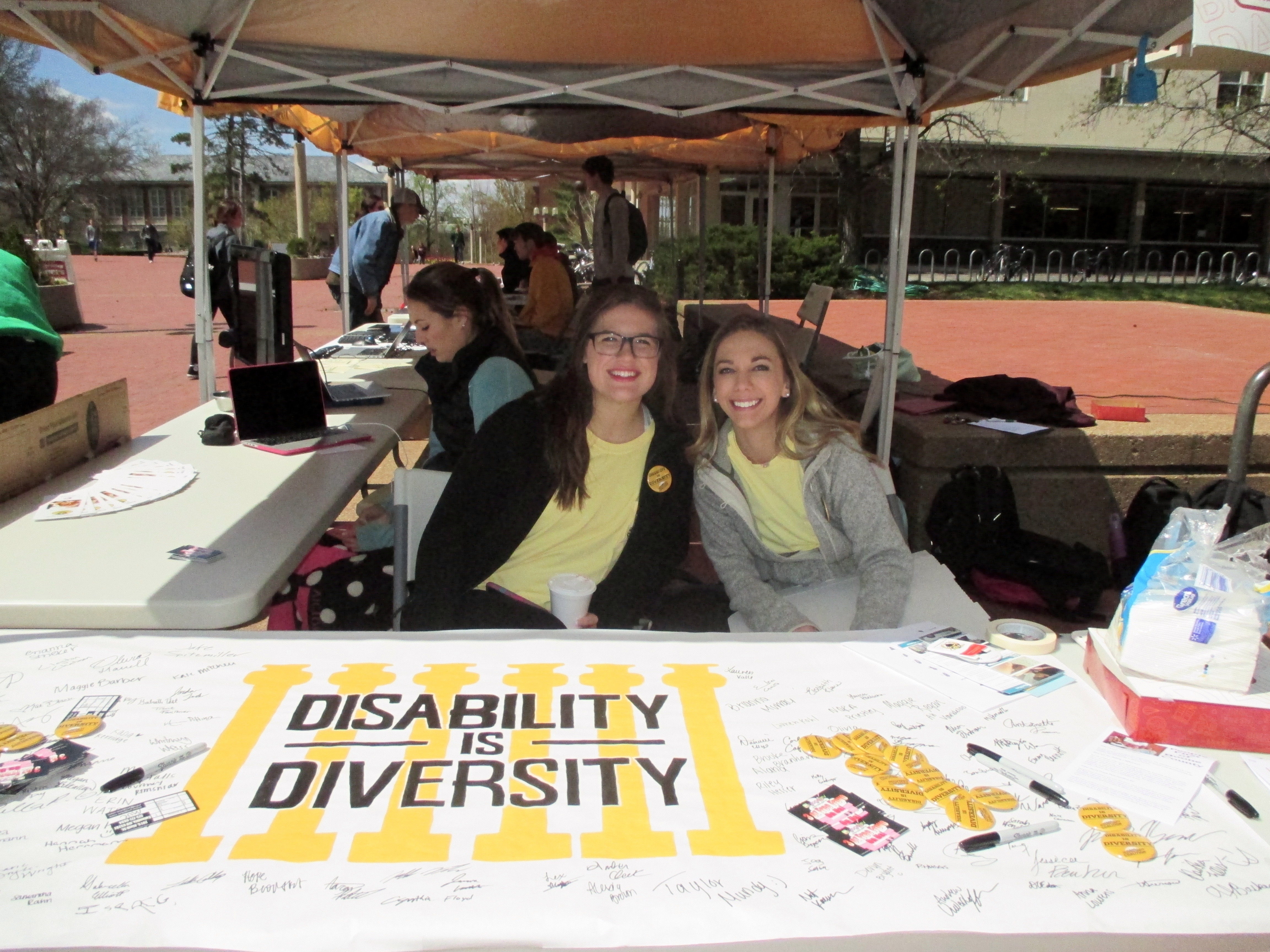 Students tabling for disability is diversity
