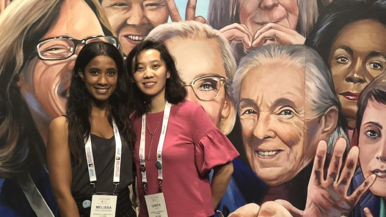 Melissa Hollingshead and Qiwen Guo were two of the five students MU Engineering took to the Grace Hopper Celebration earlier this fall.