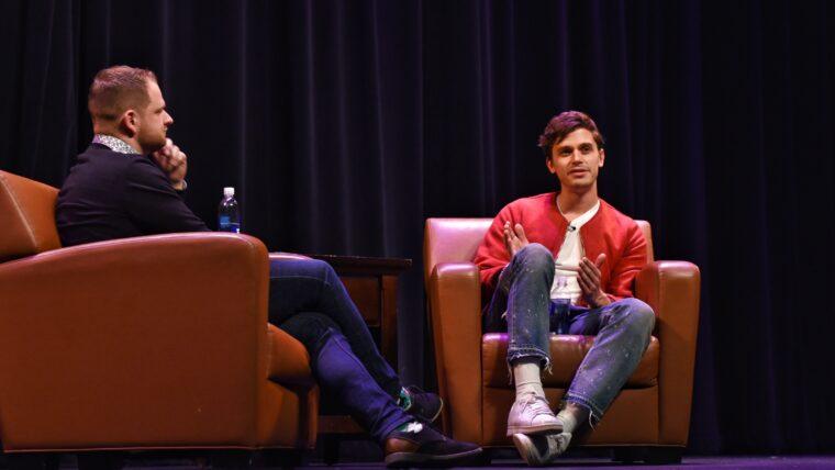 Queer Eye star Antoni has a conversation with LGBTQ Resource Center Coordinator Sean Olmstead.