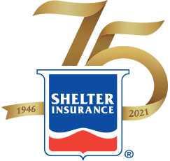 This is the logo lockup of Shelter Insurance.