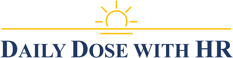 Daily Dose with HR logo with rising sun
