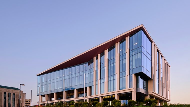 This is a photograph of the NextGen precision Health building.