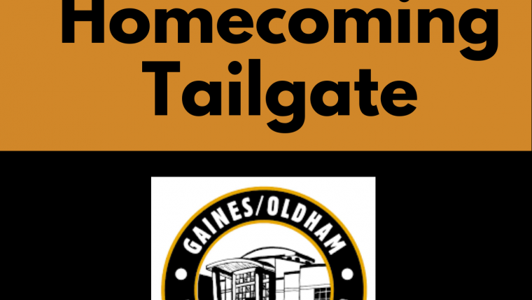 This is a photograph of the GOBCC Homecoming Tailgate flyer.