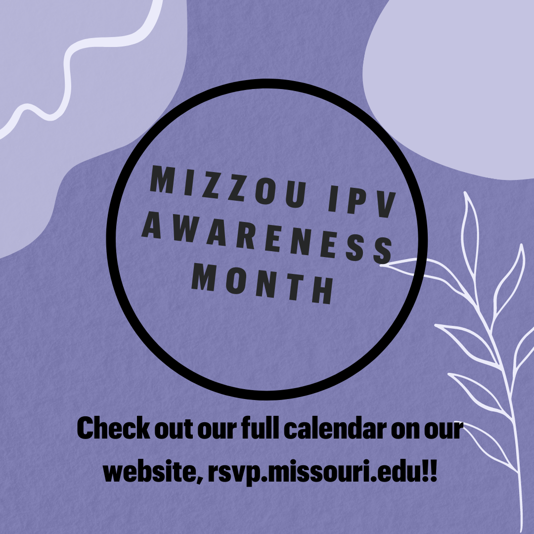 This is a photograph of Mizzou's IPV Awareness Month.